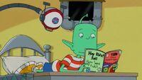 Lloyd reading a comic