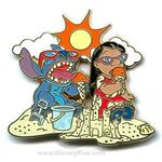WDW - Disney Signature Collection - Lilo and Stitch (4 Pin Set) Ice Cream at the Beach