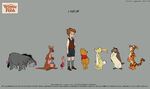 Winnie the Pooh 2011 Characters Line up