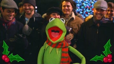 """The Muppets Kermit Sings """"It Feels Like Christmas"""" at Disneyland"""