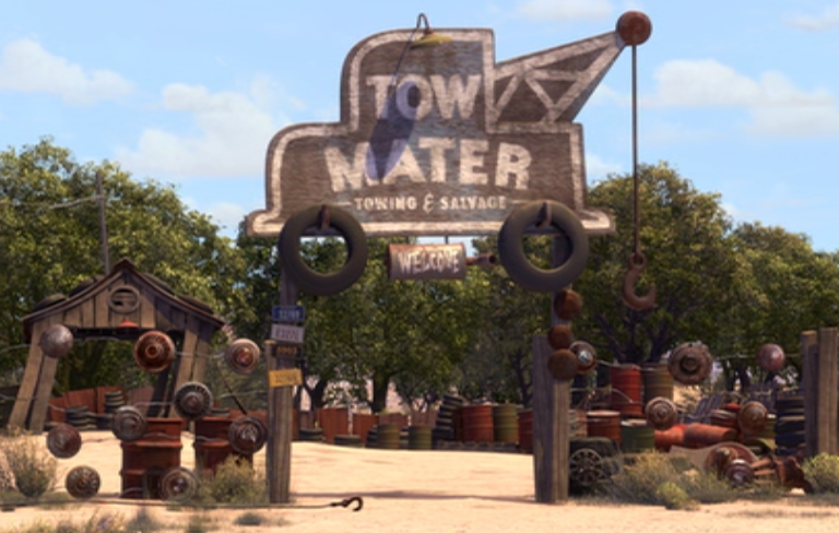 Tow Mater Towing Amp Salvage Disney Wiki Fandom Powered