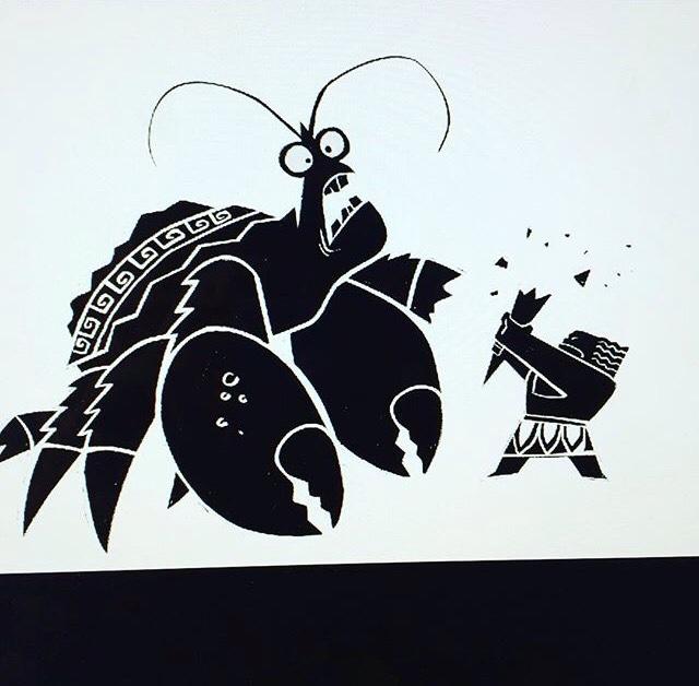 Maui Tamatoa Concept Art Bill Schwab
