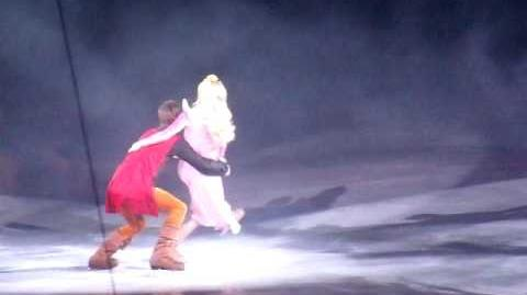 Sleeping Beauty's Princess Aurora and Prince Phillip skate