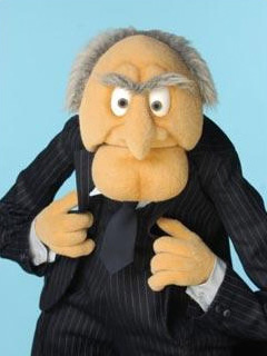 Amazon.com: The Muppets Deluxe Overhead Latex Mask, Statler: Toys ...