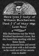 Billy Butcherson Headstone