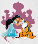 Jasmine kissed Rajah