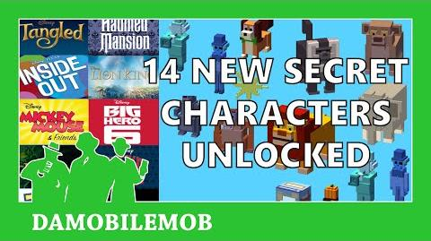 ★ DISNEY CROSSY ROAD All 14 NEW Secret Characters Unlock Disney CR Update (iOS, Android, Amazon)