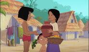 Shanti has got her water jug back from Mowgli