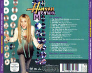 Hannah Montana 2-Disc Special Edition CD Back Cover