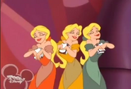 The Bimbettes admire The Duck Formerly Known as Donald