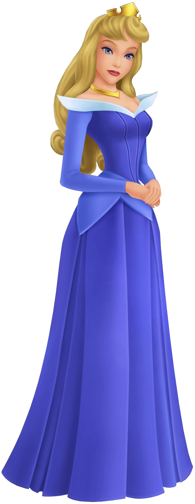 Blue dress character attributes