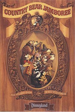 Country Bear Jamboree poster at Disneyland