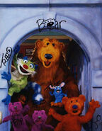 Bear characters autographs