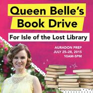 Queen Belle's Book Drive
