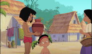Shanti is about to have her water jug back from Mowgli
