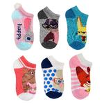 Zootopia Girls' 6-Pack No-Show Socks