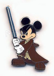 Jedi master mickey pin