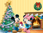 Mickey and Minnie Christmas Poster