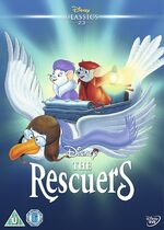 The Rescuers UK DVD 2014 Limited Edition slip cover