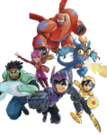 Big Hero 6 team Illustrated Render I