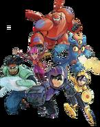 Big Hero 6 team Illustrated Render I