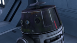 Chopper disguised as an Imperial Droid 2