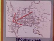 Goof Troop - Spoonerville - City Map with an Arrow