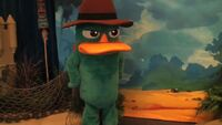 Perry at the Once Upon a Toy store
