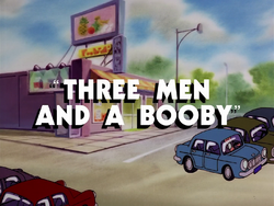 Three Men and a Booby-title card