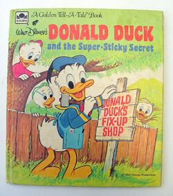 Donald duck and the super sticky secret