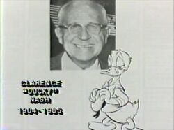 Donald mourning the death of Clarence Nash