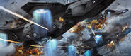 Helicarrier Attack Concept Art
