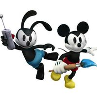 Mickey and Oswald. Epic Mickey 2 art