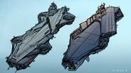 The Avengers Helicarrier initial sketches 5