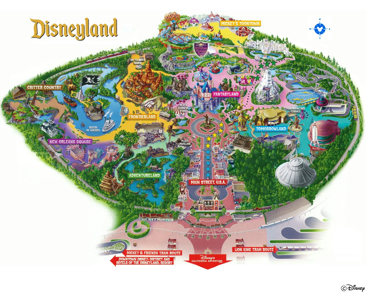 Image result for disneyland map