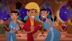 Kuzco with Marge & Tina