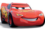 Rust-eze Stickers on lightning McQueen