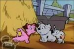 Pink Lucky, Cadpig, and Rolly