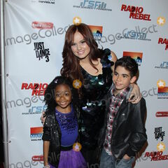 Cameron, Skai, and Debby at the arrivals of Disney Channel's newest DCOM