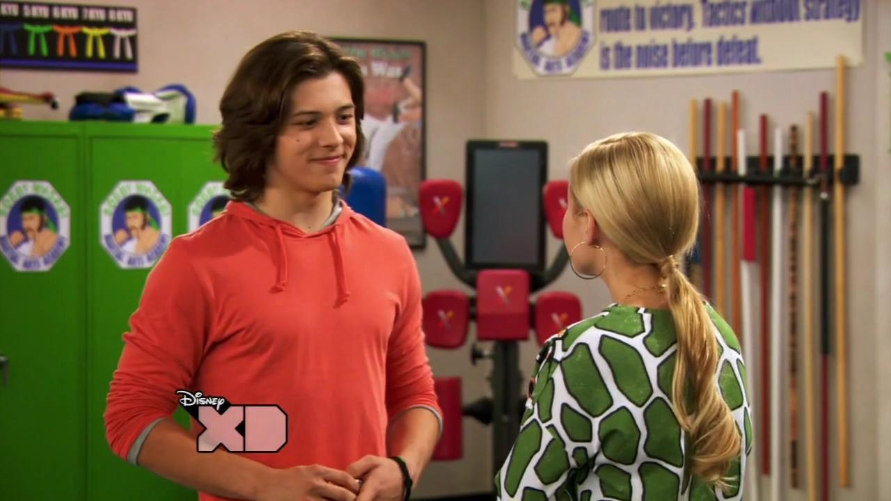 Image - Kickin It S03E11 Gabby s Gold 720p tv mkv ... Kickin It Jack And Kim Kiss Wasabi Forever