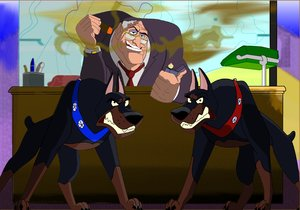 Bill Sykes and the Dobermans by Kabocha24