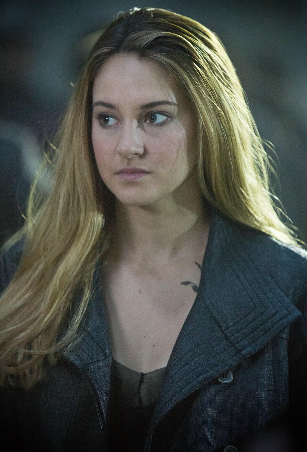 tris prior In the world of veronica roth's divergent, those in the dauntless faction -- like tris (shailene woodley) and four (theo james) -- stan tattoos in a major way tris has three ravens on her collarbone to symbolize each member of her family that she left behind, four has each faction on his back.