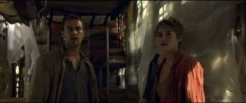 Tris and Tobias at Factionless