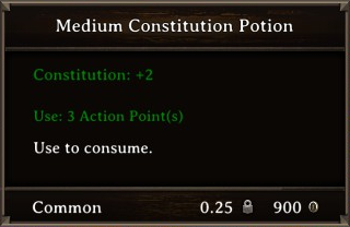 DOS Items Pots Medium Constitution Potion Stats