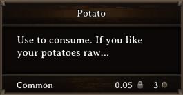 DOS Items FnD Potato