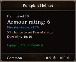 DOS Items CFTX 10.5 Pumpkin Helmet