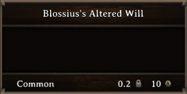 DOS Items Quest Blossius's Altered Will