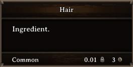 DOS Items CFT Hair