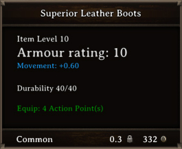 DOS Items CFTX 10.5 Superior Leather Boots