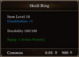 DOS Items CFTX 10.5 Skull Ring